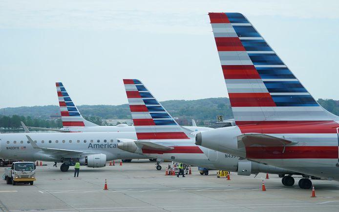 Vliegtuigen van American airlines.