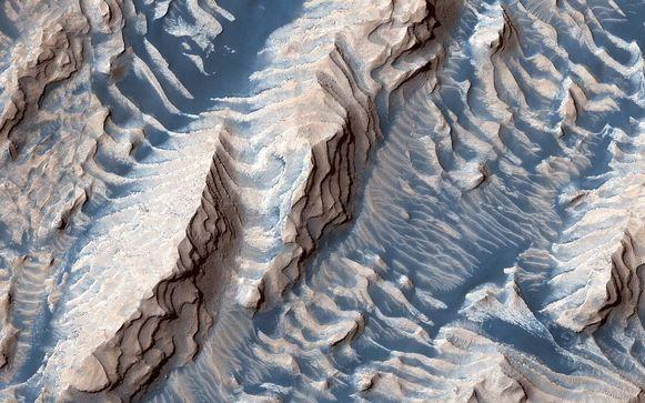 Danielson-krater op Mars.