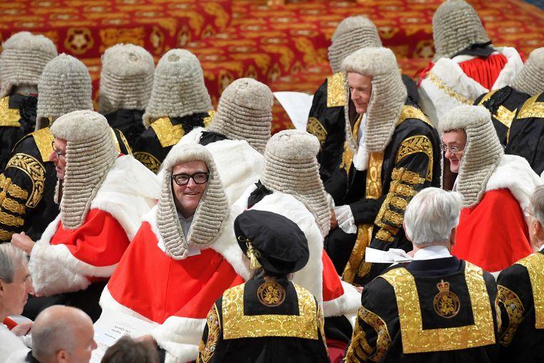 Ook leden van het Hogerhuis dragen pruiken.  Beeld AP