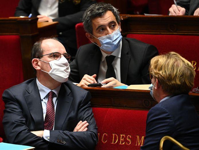 Le Premier ministre français Jean Castex et Gérald Darmanin, ministre de l'Intérieur.