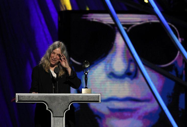 Patti Smith was erbij toen Lou Reed voor de tweede keer in de Hall of Fame werd opgenomen.