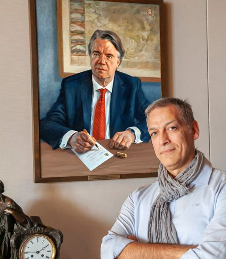 Eduart Baçe schildert portret Van de Donk: 'Hij denkt vooruit, dat merk je aan alles'