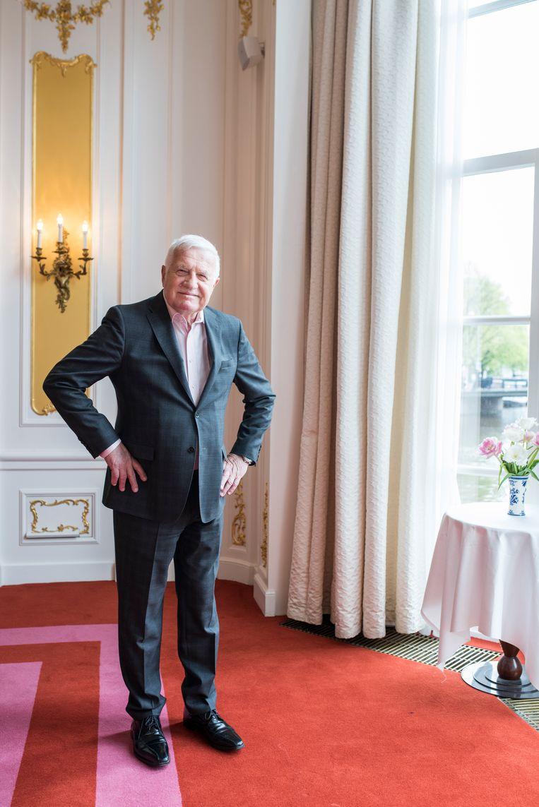 Klaus was in Amsterdam op uitnodiging van Forum voor Democratie. Beeld Linelle Deunk