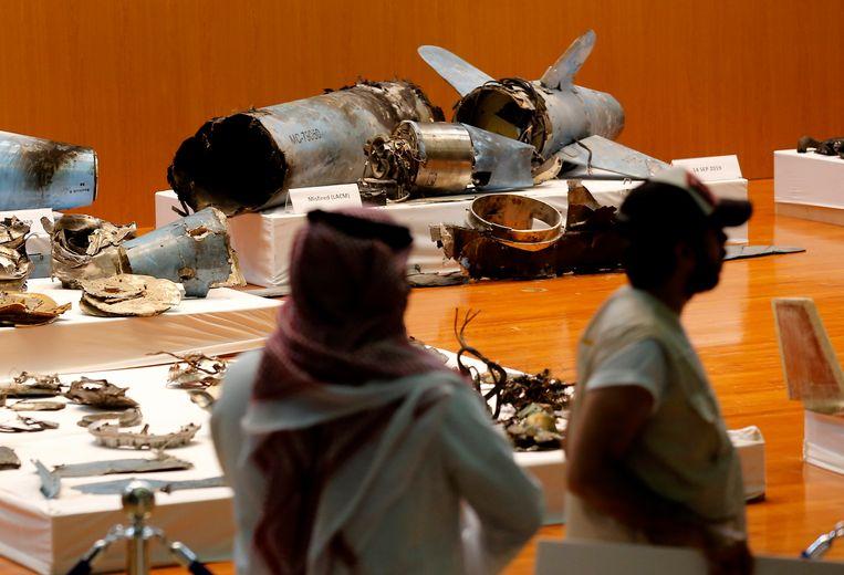 De wapens, volgens Saudi-Arabië kruisraketten en drones, die bij de aanval zouden zijn gebruikt.