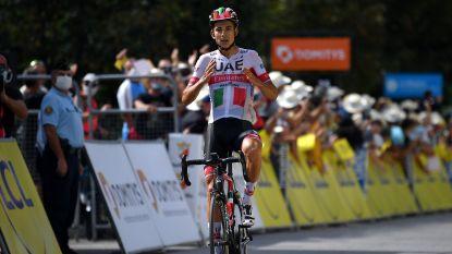 Italiaans kampioen Formolo wint in Dauphiné na knappe solo, Roglic steviger in het geel, Benoot geeft op