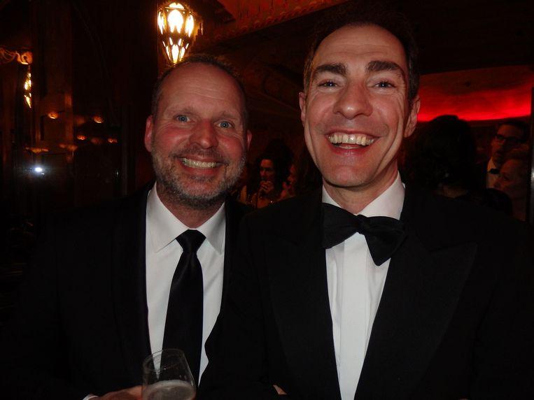 Producent Ingmar Menning (l) en regisseur Johan Nijenhuis. Menning: 'Ik zie vrolijke gezichten. Het is goed gekomen.' Beeld -