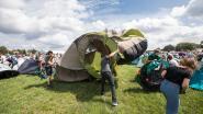 Hilariteit op de pukkelpopcamping: je tent opzetten mét strakke wind