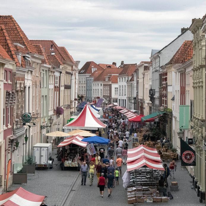 Krabbenfoor in de Lievevrouwenstraat vorig jaar.