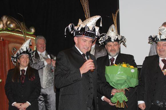 Pascal Solemé -Prins Carnaval in 1992- is nu lid van de Prinsengarde in Aalst.