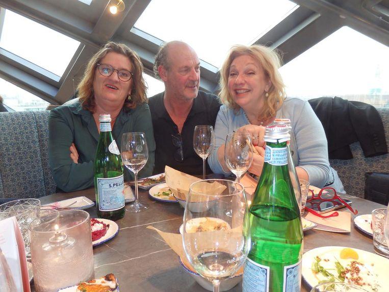 Culinaire toppers Jonah Freud (Kookboekhandel), Jacques Hermus (Het wilde eten) en Janny van der Heijden (Heel Holland bakt). 'Wij zijn de 3 J's.' Beeld Schuim