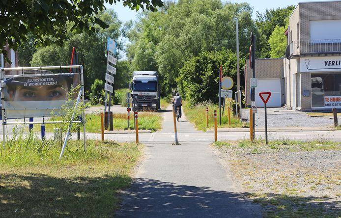De bekende Leirekensroute krijgt voorlopig geen fietstunnel onder de Steenweg op Dendermonde
