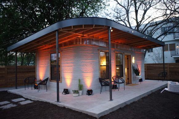 De modelwoning in Texas is de eerste in z'n soort en werd gebouwd in minder dan 24 uur.