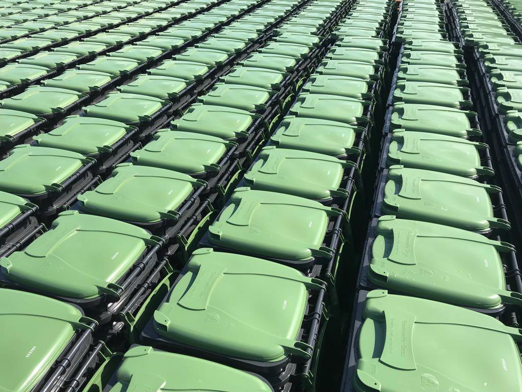 Om beter te kunnen scheiden kregen inwoners van de gemeente Goes onlangs een grotere groene container.