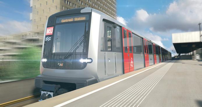 Artist impression van de nieuwe metro M7