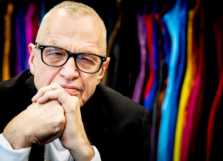 Keso Dekker, die als decor- en kostuumontwerper al ruim 35 jaar een belangrijk stempel drukt op het uiterlijk van de Nederlandse- en internationale dans. Beeld ANP