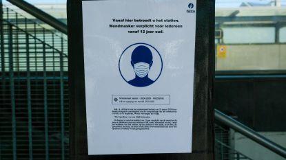 Voorlopig slechts één pv voor niet dragen van mondmasker in tunnel onder spoor