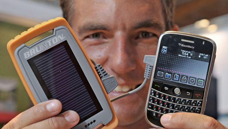Oplader op zonne-energie voor Blackberry Beeld null