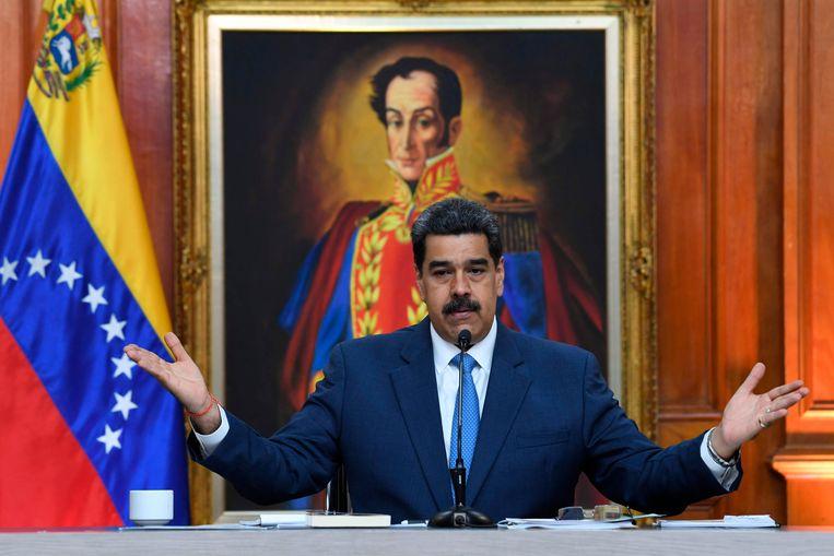 De Venezolaanse leider Nicolás Maduro. Beeld AFP