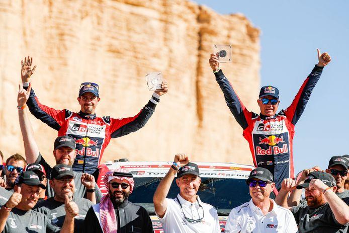 Bernhard ten Brinke en Tom Colsoul tijdens de vorige Dakar.