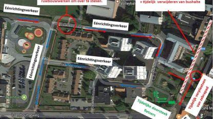 """Vanaf woensdag nieuwe verkeerssituatie rond werfzone 't Gastenhuys: """"Oefen met kinderen best al eens nieuwe route naar school"""""""