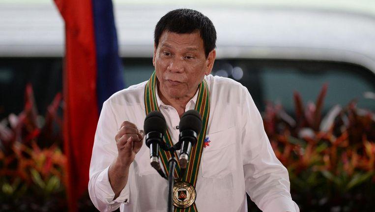 De Filipijnse president Duterte Beeld null