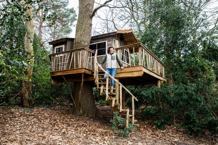 Antoinette Blok is boomhuttenbouwer