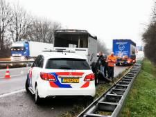 Paard ontsnapt uit trailer op A12, snelweg in beide richtingen afgesloten