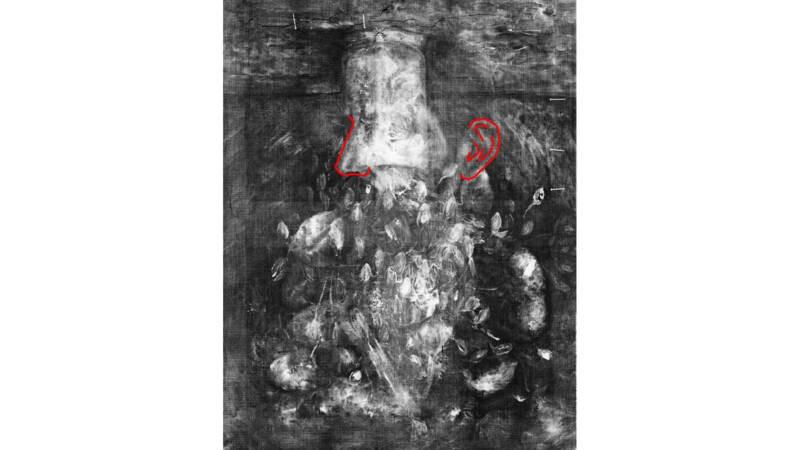 Onder het stilleven gaat een zelfportret van de Nederlandse schilder schuil.