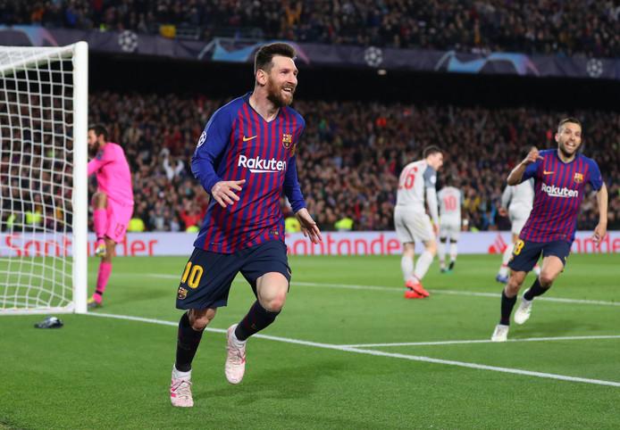 Lionel Messi was vorige week tegen Liverpool met twee goals weer de grote man bij Barcelona.