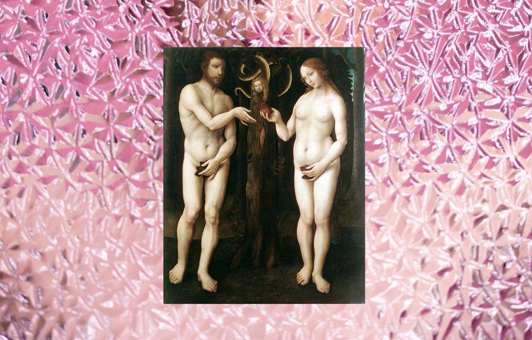 Adam en Eva - De oudst bekende schaamte, met het vijgenblad. Beeld