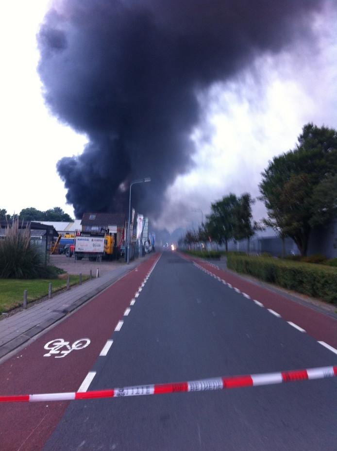Grote brand aan de Gildeweg in Vlissingen.