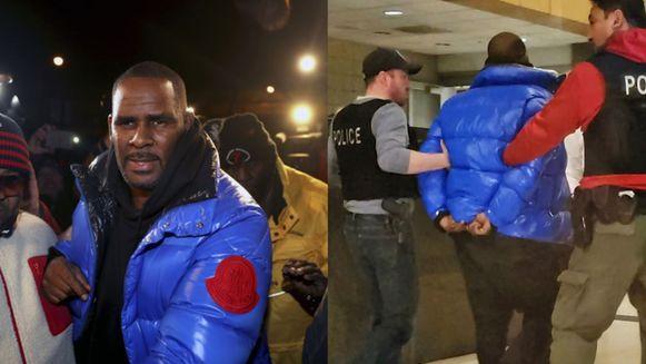 R. Kelly gaf zichzelf aan bij de politie van Chicago en werd meteen in de boeien geslagen.