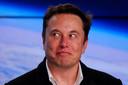 Elon Musk, oprichter van SpaceX, was op van de spanning, maar kon na de lancering al weer lachen.
