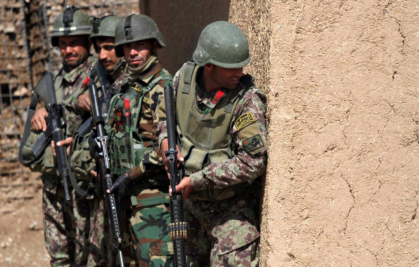 Archiefbeeld van Afghaanse soldaten tijdens een training.