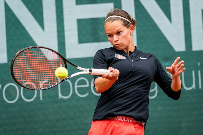 Shanna de Cortie in de finale van het Beekhuizen Open.