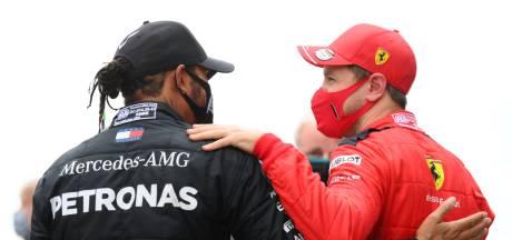 Vettel feliciteert Hamilton: 'De beste coureur van onze generatie'
