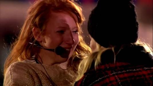 Linde Merckpoel barstte in tranen uit toen ze het verhaal van Marinka hoorde.