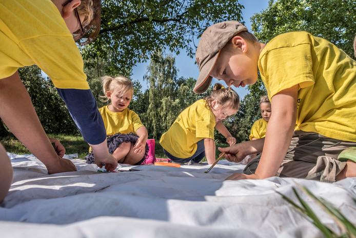 Dit jaar is er ook weer een groep geel (kleuters) bij de Kindervakantieweek in Beek.