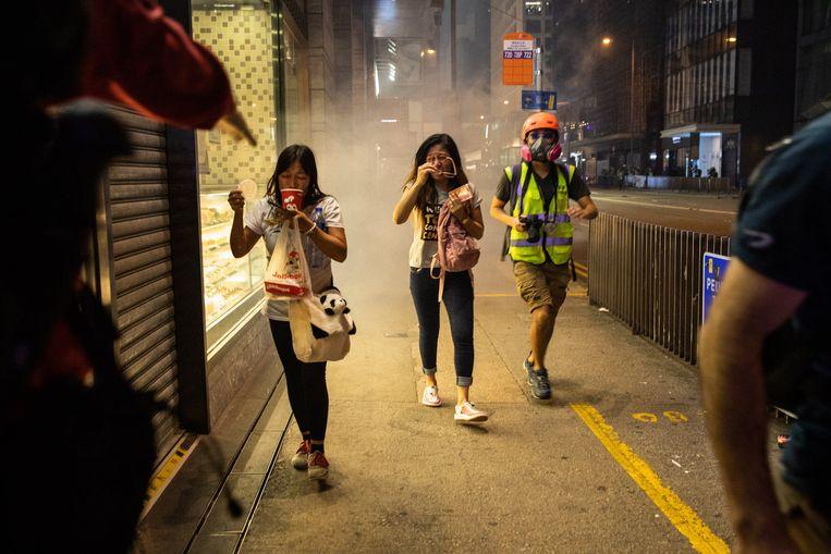 Jongeren gaan nog altijd de straat op in Hongkong.  Beeld