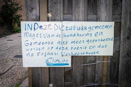 Met deze tekst protesteert Jan Heikamp tegen de boete.
