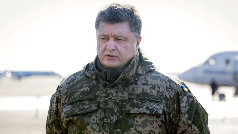 President Porosjenko gaf het verlies van Debaltseve toe.