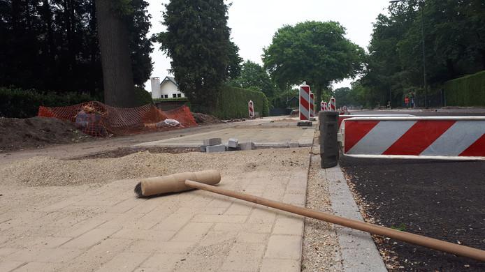Werk aan Graafsebaan in Heesch.