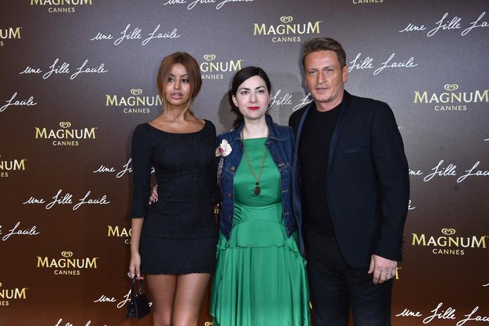Zahia Dehar, la réalisatrice Rebecca Zlotowski et Benoît Magimel