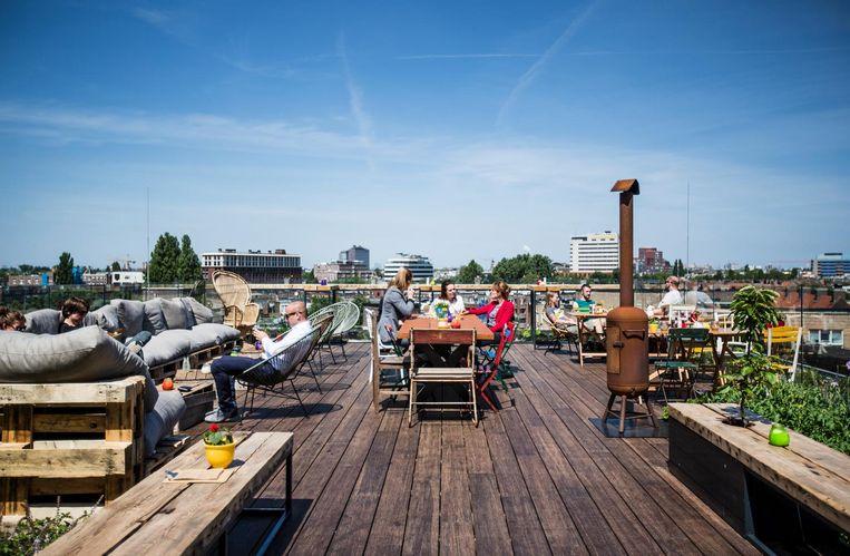 Ook met een beetje wind zit je bij Hopp Amsterdam nog prima Beeld Eva Plevier