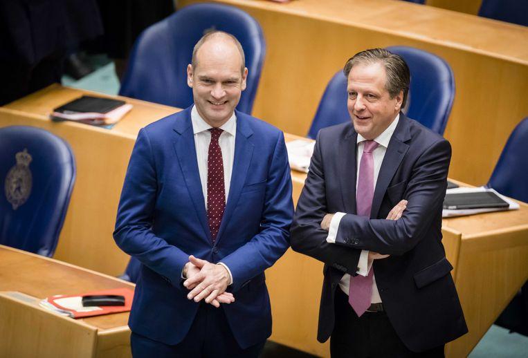 CU-leider Segers en D66-leider Pechtold in de Tweede Kamer. Beeld anp