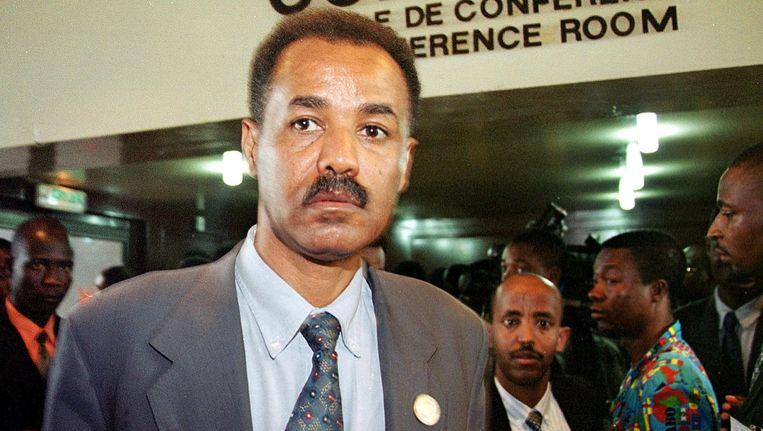 Isaias Afewerki, de dictator van Eritrea. Zijn macht breidt zich uit tot over de grens Beeld AFP