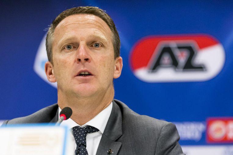 AZ-trainer John van den Brom. Beeld anp