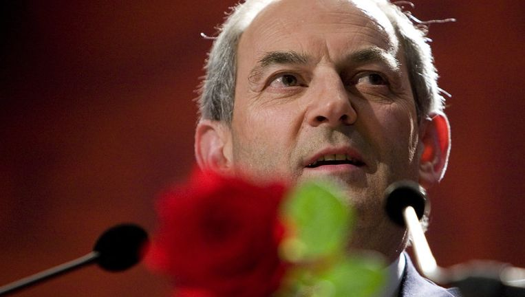Job Cohen houdt zondag zijn eerrste toespraak als lijsttrekker van de PvdA tijdens het partijcongres in Nijmegen. Foto ANP Beeld