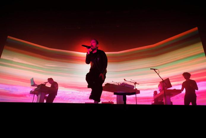 Tom Yorke live op de zaterdag van Down the Rabbit Hole.