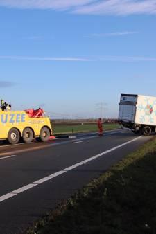 A58 bij Rilland weer open na ongeval met vrachtwagen